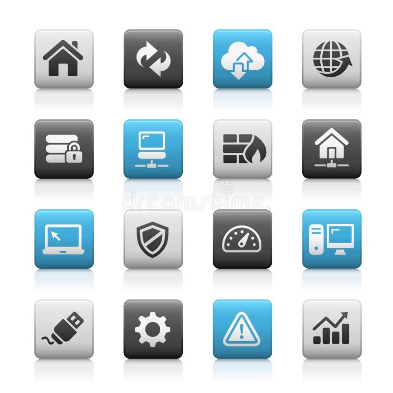 Web-Entwickler Icons, Matte Series lizenzfreie abbildung