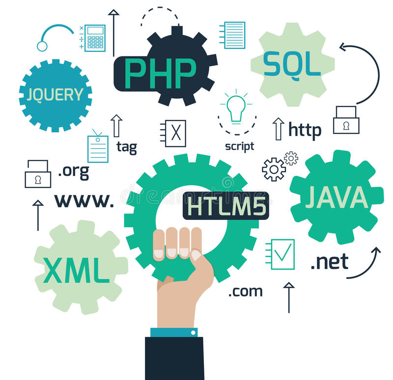 Web-Entwicklung lizenzfreie abbildung
