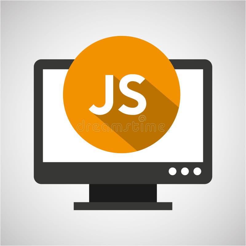 Web-Entwicklungs-Computer js Sprache stock abbildung