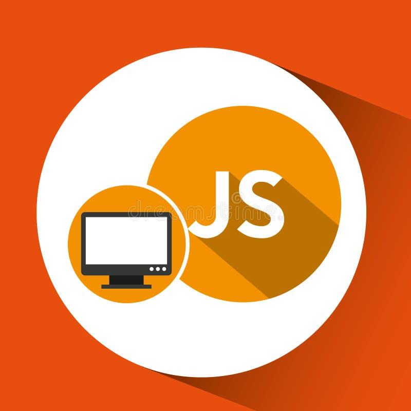 Web-Entwicklungs-Computer js Sprache vektor abbildung