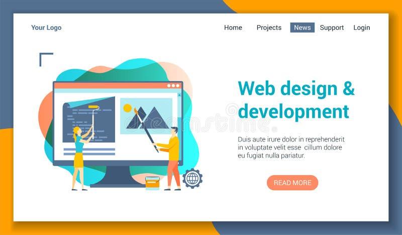 Web-Entwicklungs-Langspielplatten-Schablone lizenzfreie abbildung