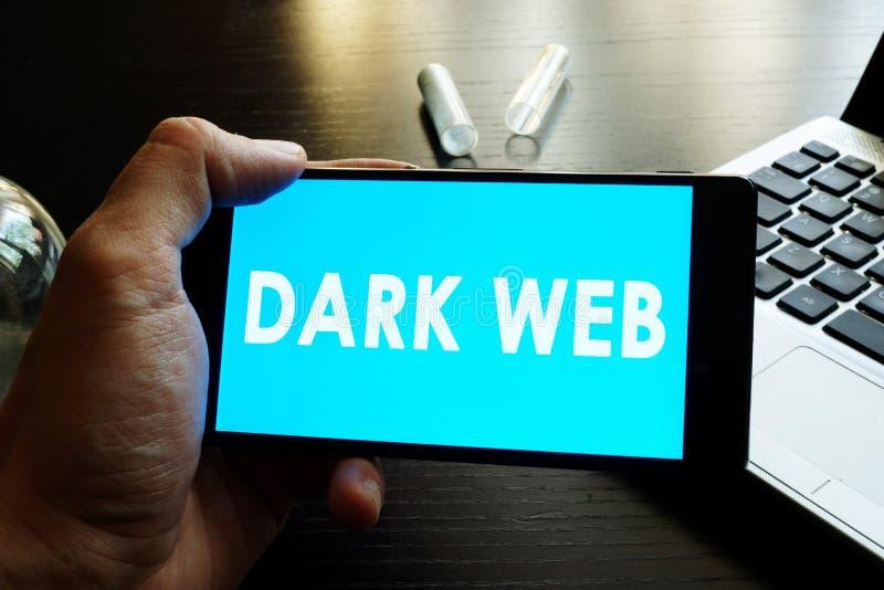 Web escura imagem de stock
