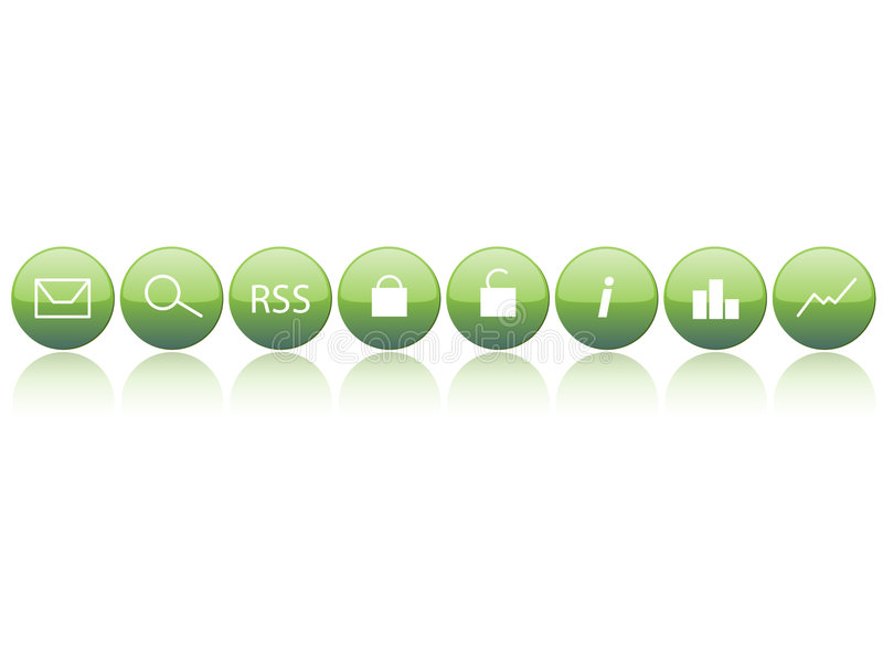 Web Essentials Simple. Essentials Buttons for Web use stock illustration