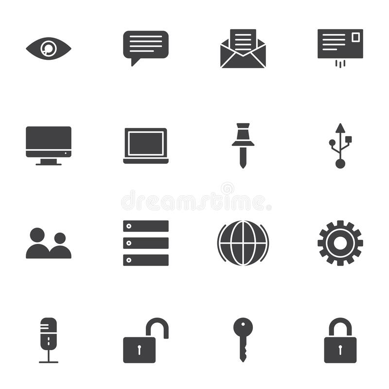 Web essentials vector icons set stock illustration