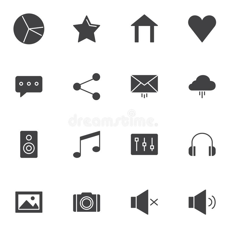 Web essentials vector icons set royalty free illustration