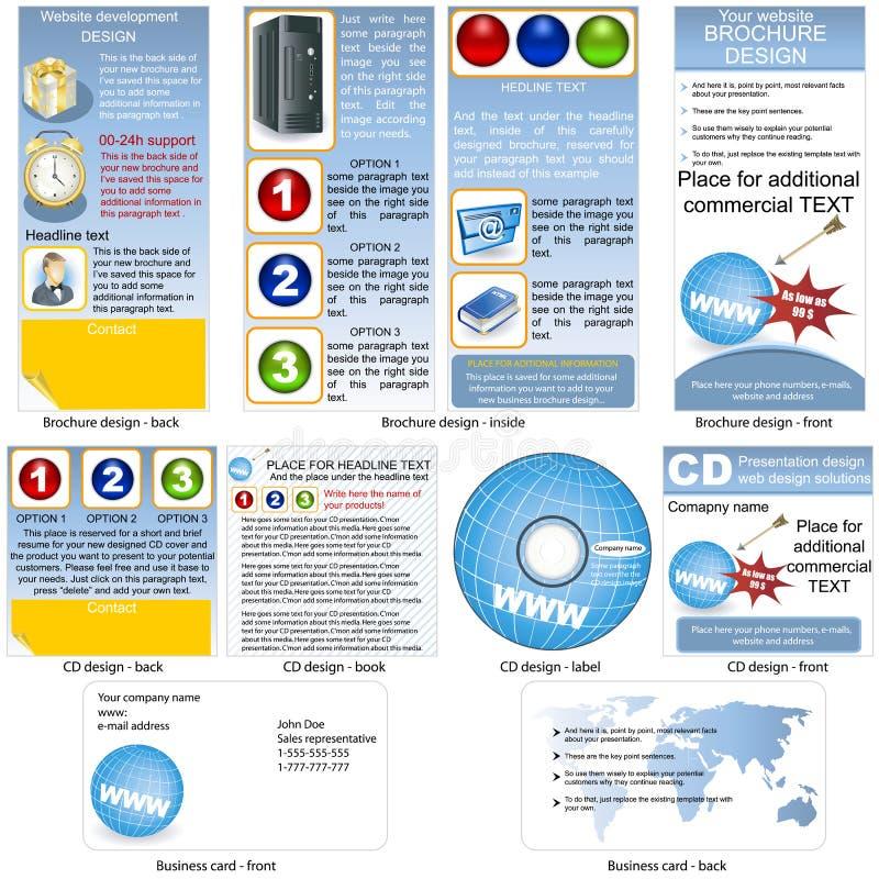 Web estacionário ilustração royalty free