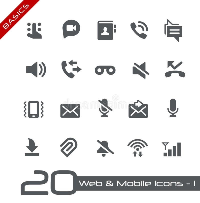 Web et fondements mobiles d'Icons-1 // illustration stock