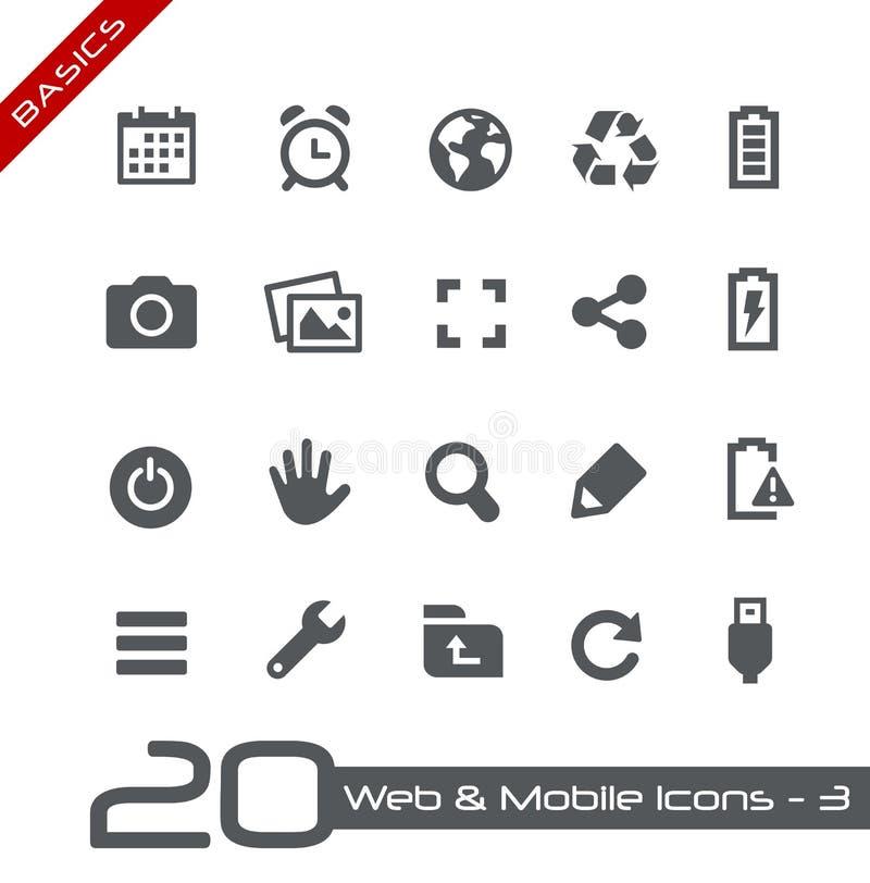 Web et fondements mobiles d'Icons-3 // illustration stock