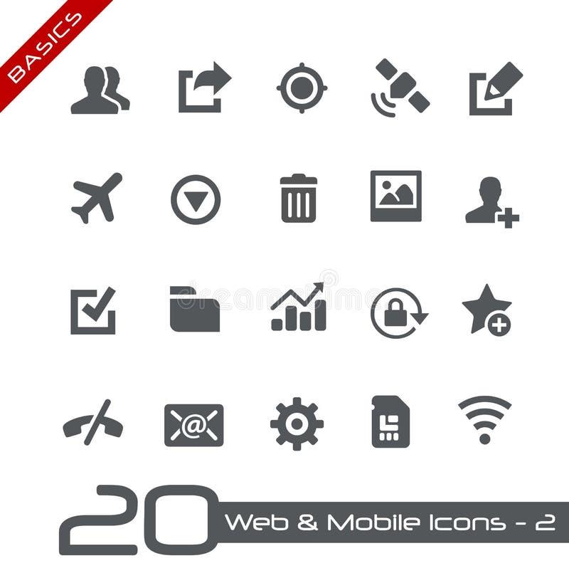 Web et fondements mobiles d'Icons-2 // illustration de vecteur