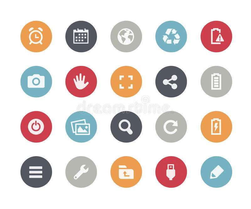 Web et icônes mobiles - 3 classiques de // illustration de vecteur