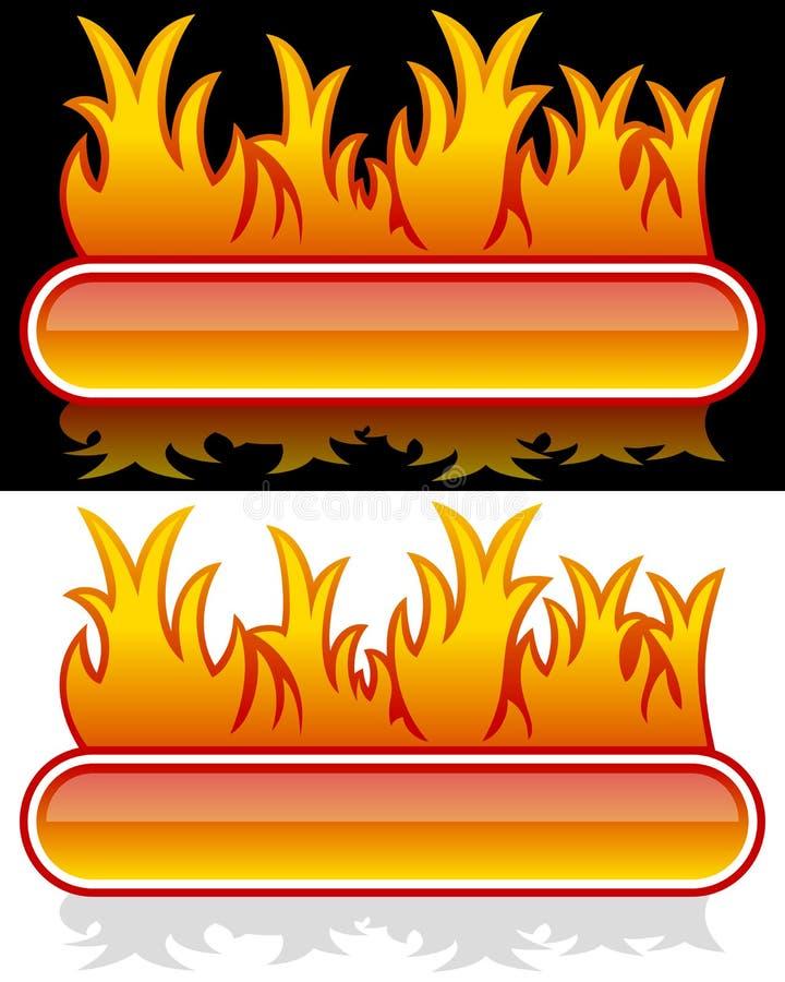 Web-Fahne mit Flamme stock abbildung