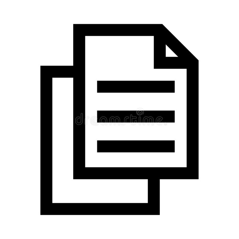 Files thin line vector icon royalty free illustration