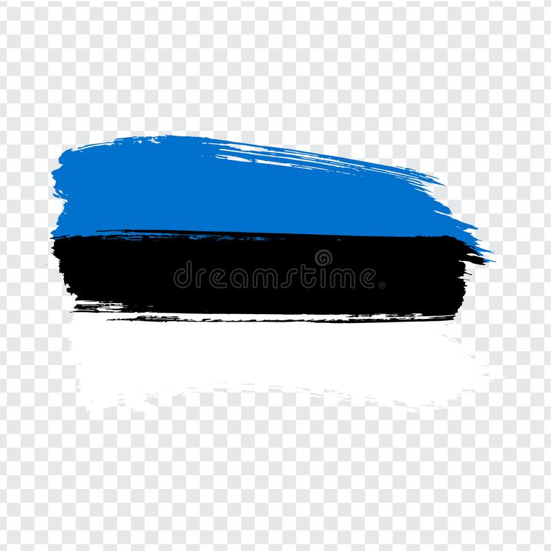 Flag Estonia from brush strokes.  Flag Estonia on transparent background for your web site design, logo, app, UI. Stock vector. Vector illustration EPS10 royalty free illustration