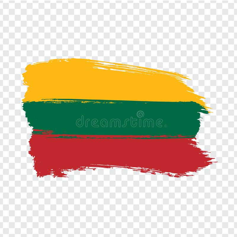 Flag Lithuania from brush strokes.  Flag Lithuania on transparent background for your web site design, logo, app, UI. Stock vector. Vector illustration EPS10 royalty free illustration