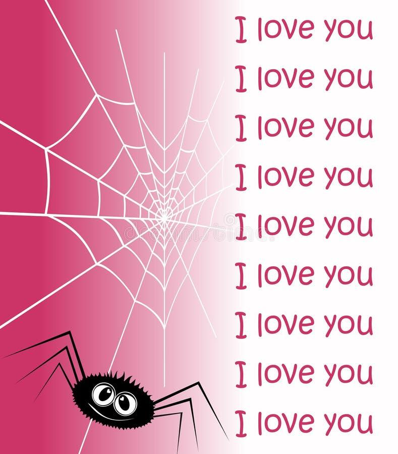 Web in Form des Inneren und einer Spinne. lizenzfreie abbildung