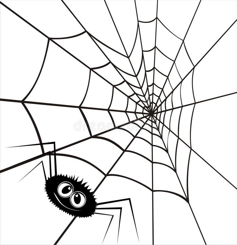 Web in Form des Inneren und einer Spinne. vektor abbildung