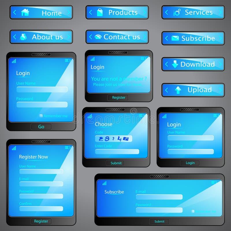 Web Form Template vector illustration