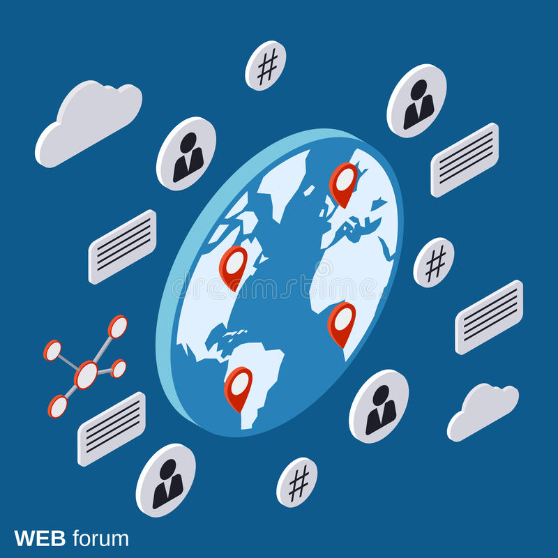 Free Web Forum, Online Chat, Discussion Vector Concept Stock Photo - 76675080