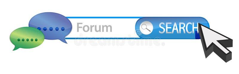 Web forum search vector illustration