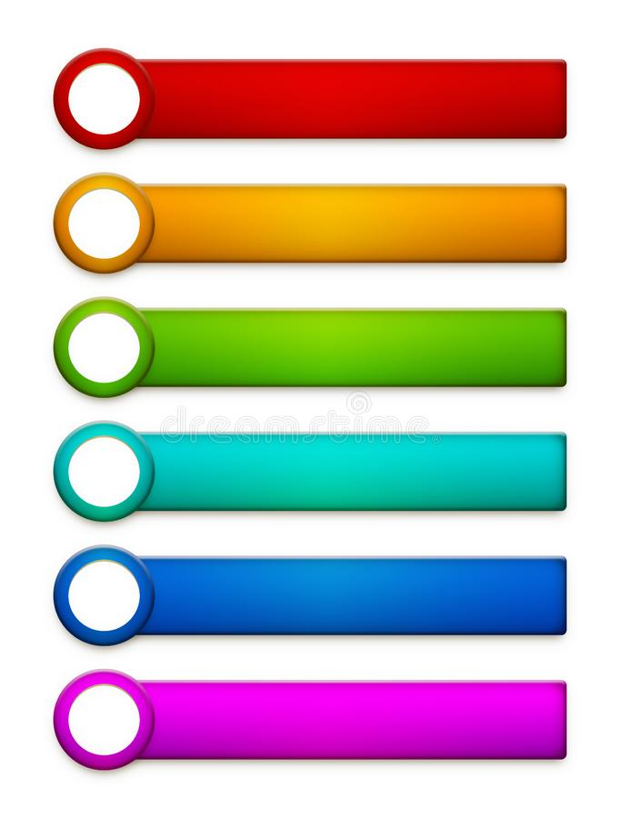 Web and game design buttons and elements, ready to use template. Web and game design buttons and elements ready to use template in different colors. Transparrent royalty free stock photo