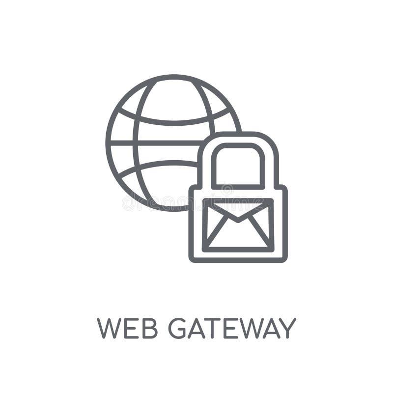 Web Gateway Linear Icon. Modern Outline Web Gateway Logo ...