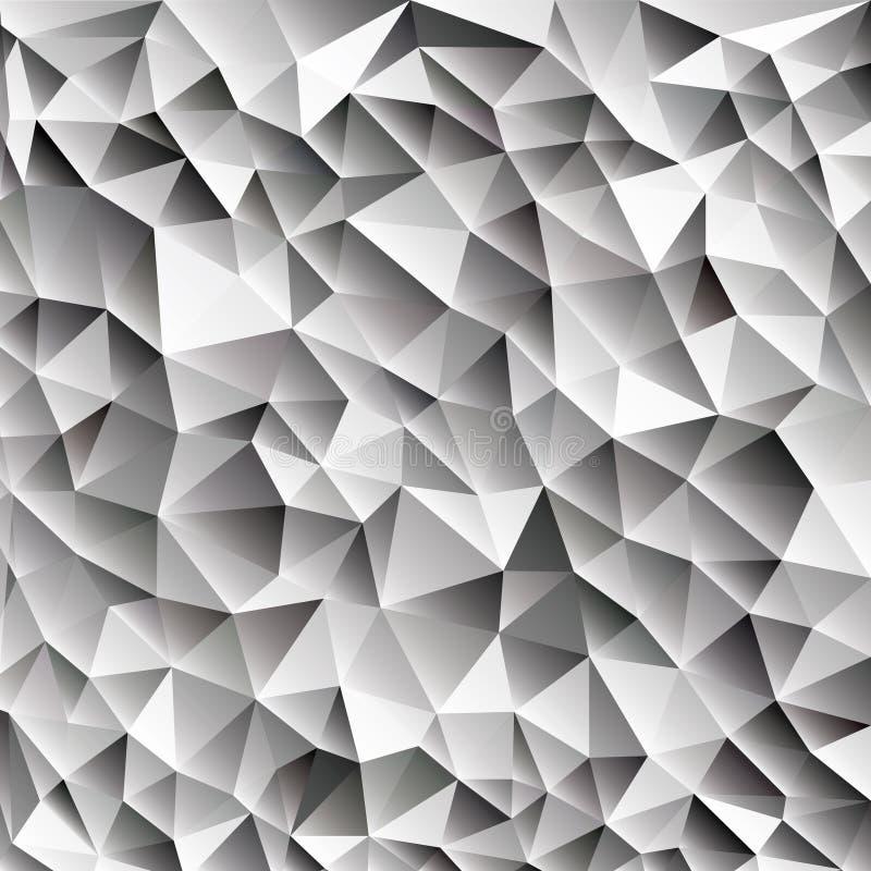 web geometrico di vettore brillante astratto dei cubetti di ghiaccio 3d illustrazione vettoriale