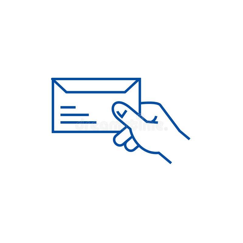 Get mail line icon concept. Get mail flat  vector symbol, sign, outline illustration. Get mail line concept icon. Get mail flat  vector website sign, outline vector illustration