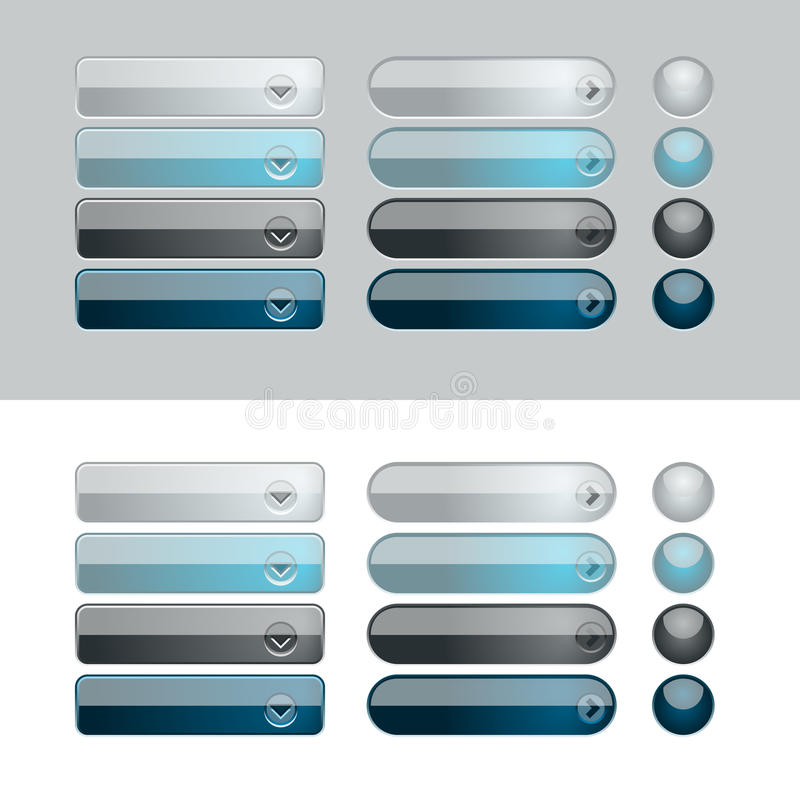 Web-glänzendes Tasten-Set lizenzfreie abbildung