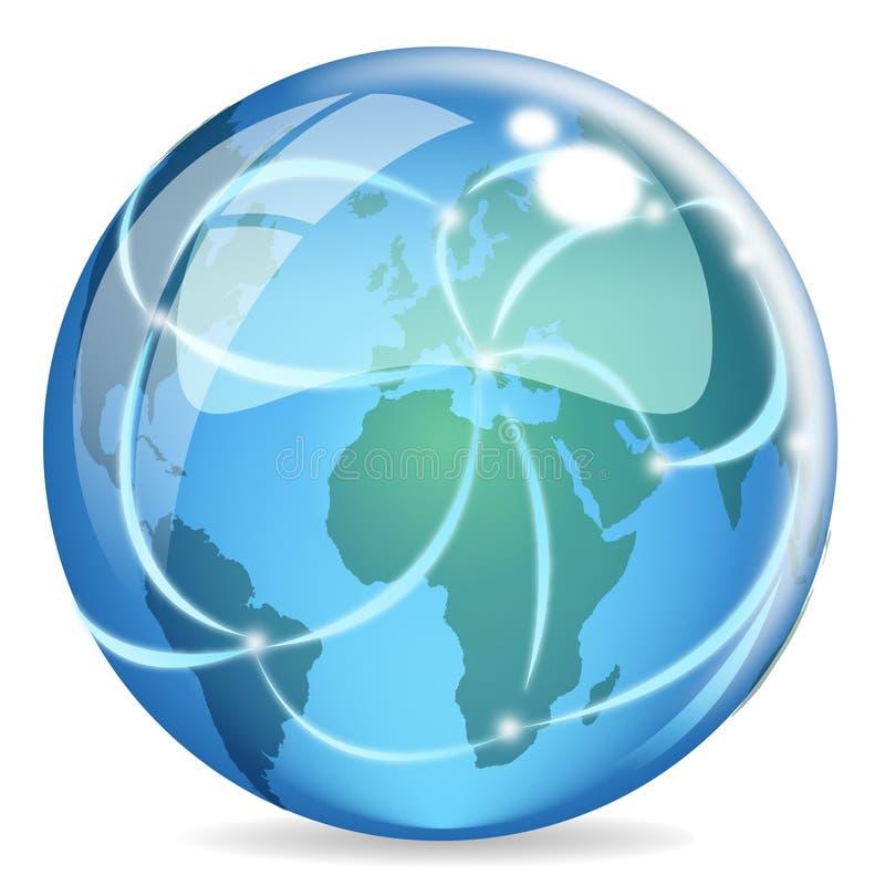Web global ilustração stock