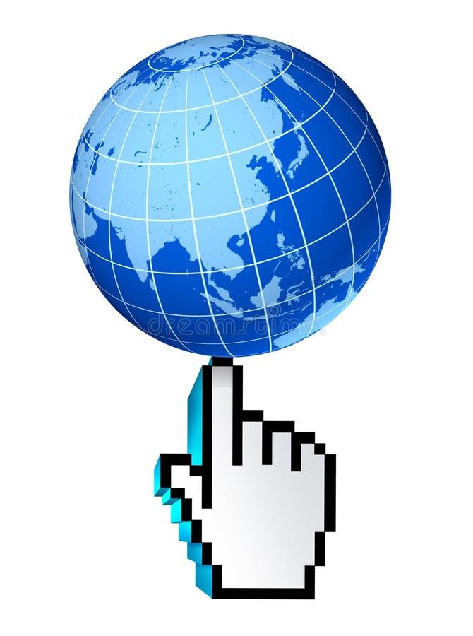 Web global de l'Asia Pacific Chine Japon Corée d'Internet illustration libre de droits