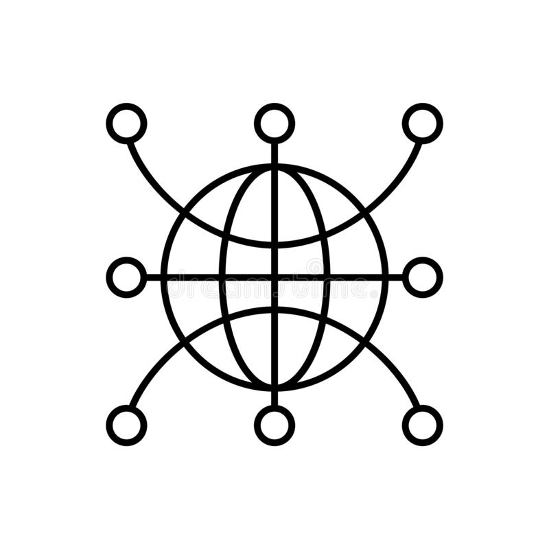 Web, global, network, world icon - Vector. Artificial intelligence royalty free illustration