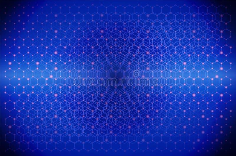 Web Graphic Design Net Muster Skizze Technologie für die Netzwerkstruktur Abstrakte Form Wallpaper Illustration Vektor Hintergrun lizenzfreie abbildung