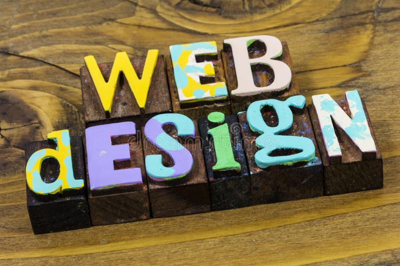 Web graphic design website development hosting internet webmaster royalty free stock photography
