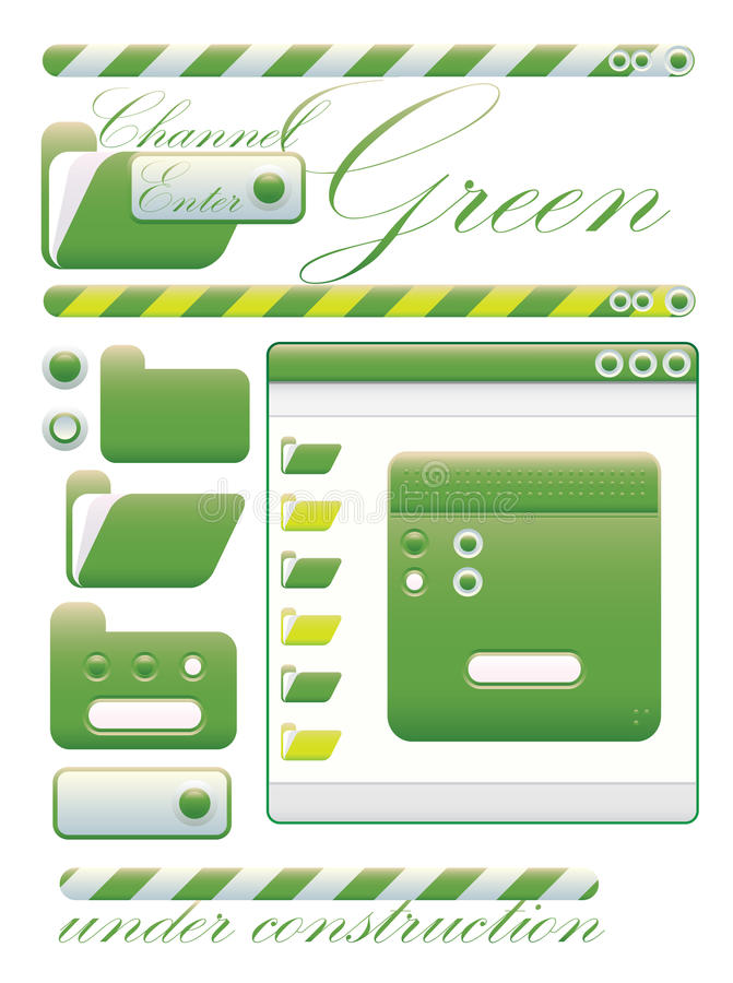 Download Web Graphic Interface Green Channel Stock Vector - Image: 10160236