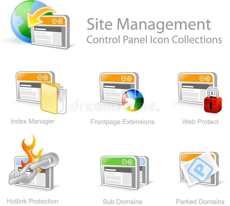 Web graphical icons royalty free stock photography