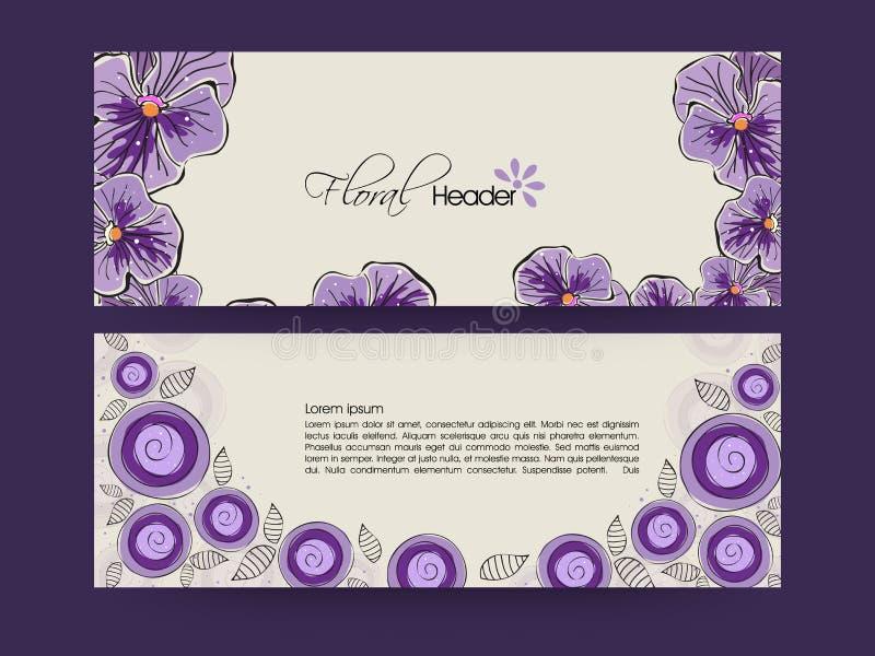 Web header or banner set. royalty free illustration