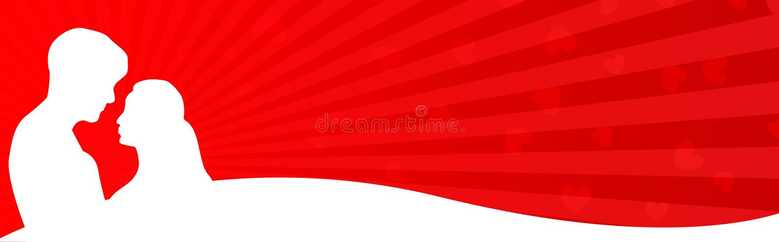 Download Web Header Couple in love stock illustration. Image of female - 8018149