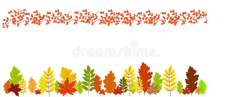 web Herbstsaison lanscape Hintergrund stock abbildung