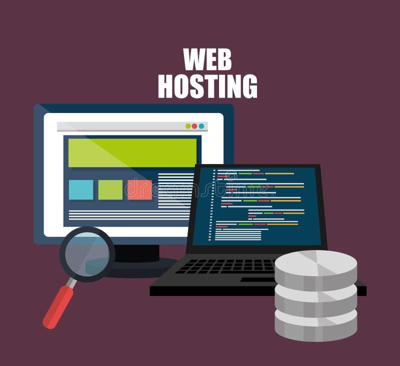 Web het ontvangen en ontwerp vector illustratie