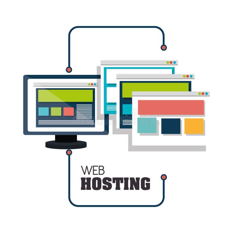 Web het ontvangen ontwerp stock illustratie