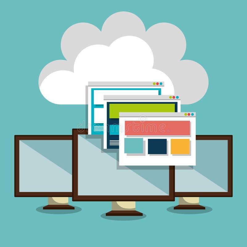 Web het ontvangen ontwerp vector illustratie