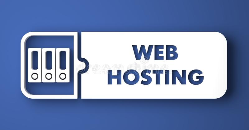 Web het Ontvangen op Blauw in Vlakke Ontwerpstijl. vector illustratie