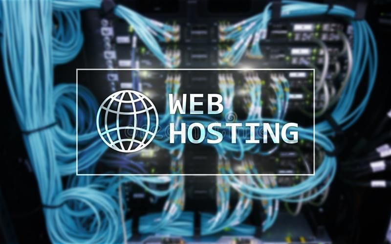 Web het Ontvangen, verlenend bergruimte en toegang voor websites stock afbeelding