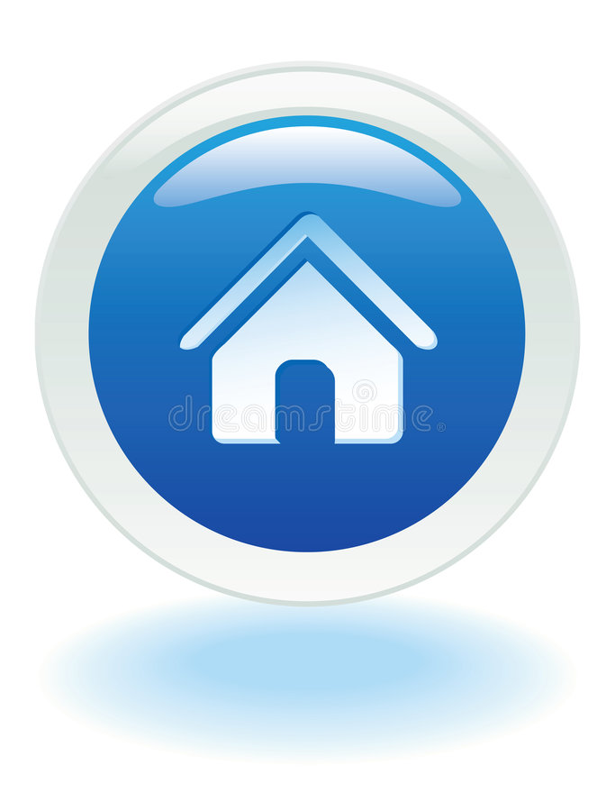Web home button stock vector image of house element Website home image