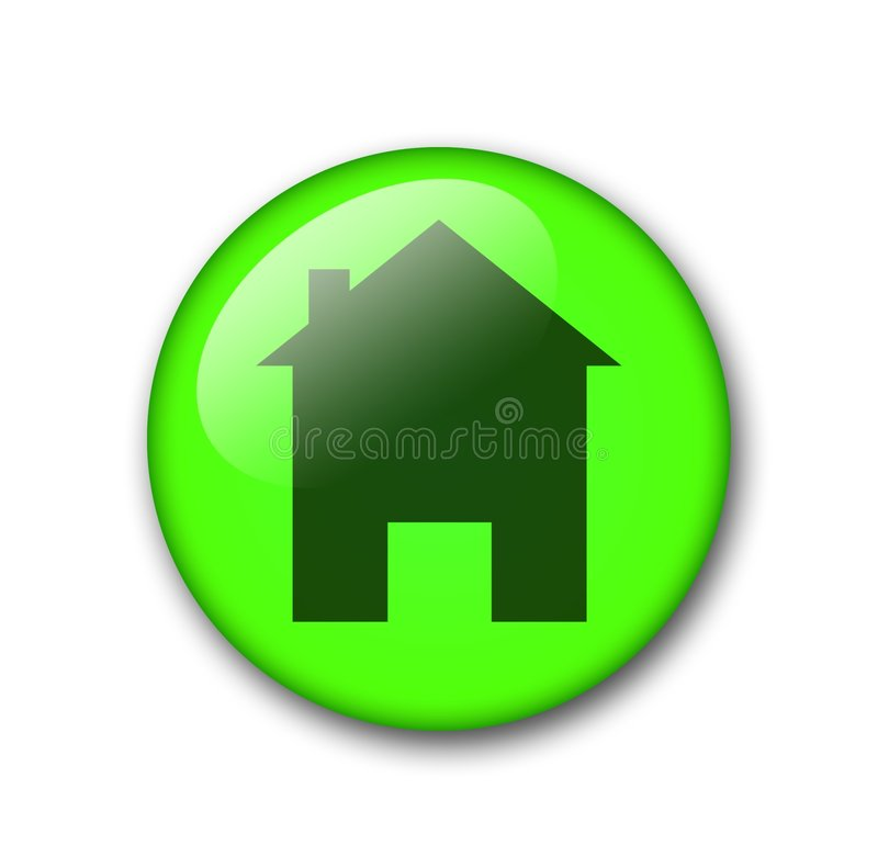 Web home button stock photo