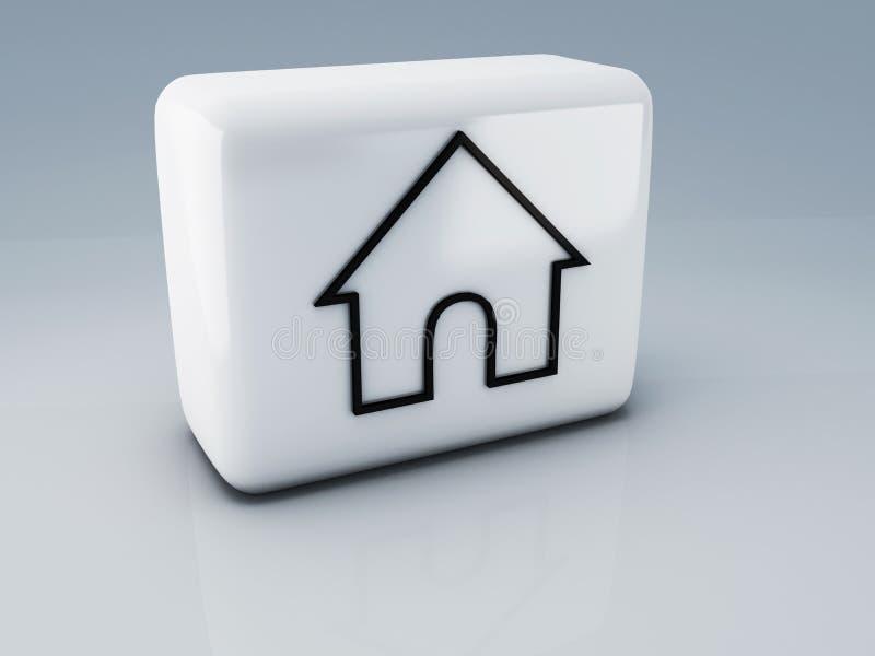 Web home icon. 3d Illustration vector illustration