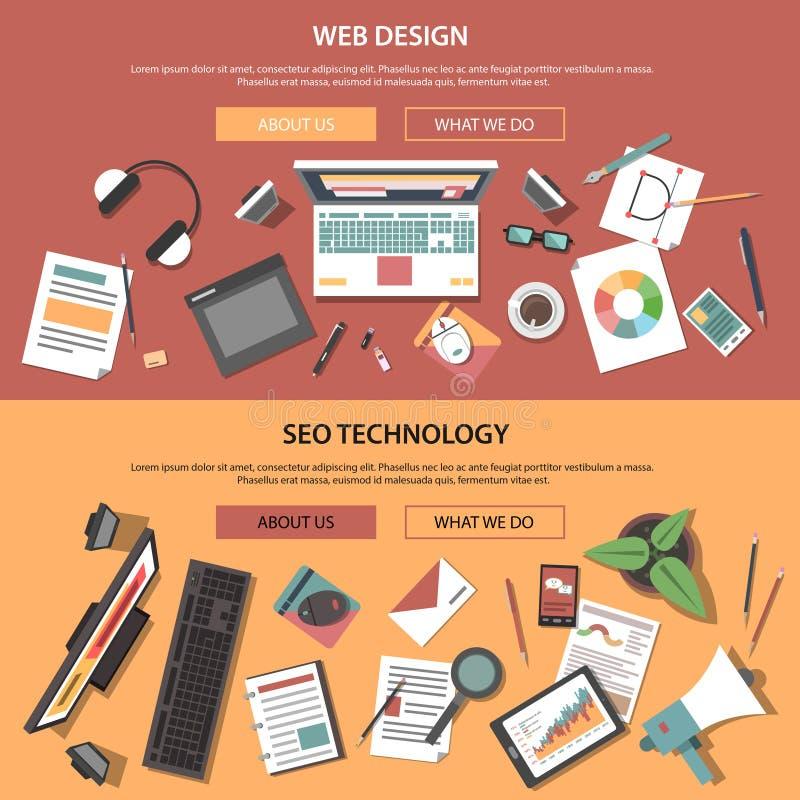 Web Horizontale Banners vector illustratie