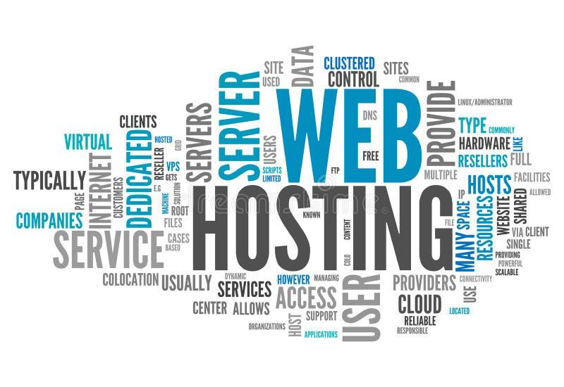 Web hosting de la nube de la palabra libre illustration