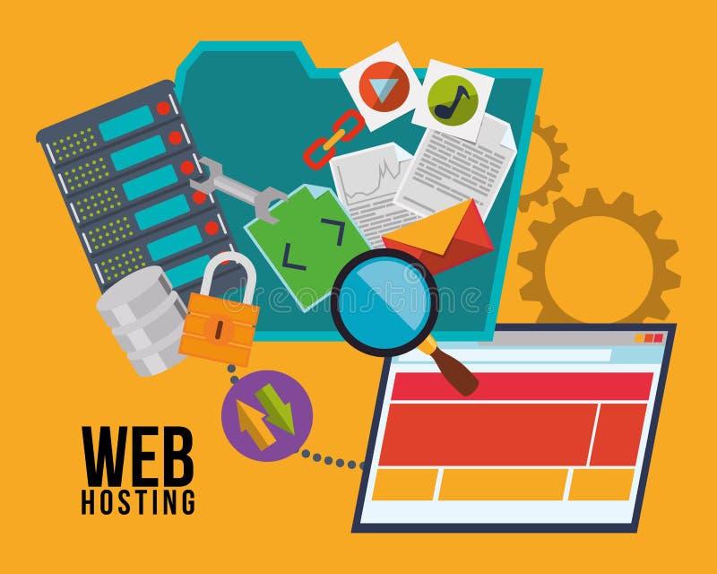 Download Web hosting design stock vector. Illustration of hardware - 62575838