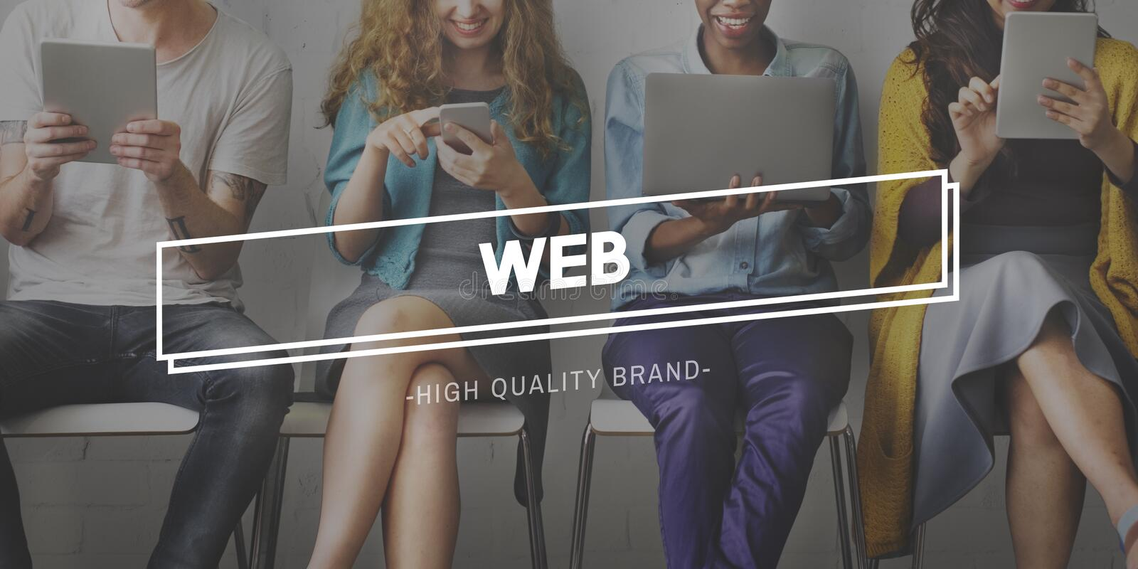Web Hosting Development Connection Networking Concept stock image
